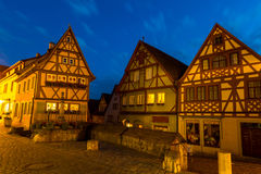 Rothenburg ob der Tauber Germany at dusk Royalty Free Stock Photo