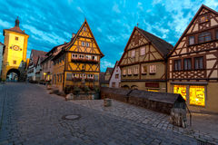 Rothenburg ob der Tauber Germany at dusk Stock Image
