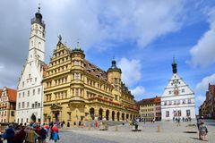 Marktplatz in Rothenburg ob der Tauber, Germany Royalty Free Stock Photos