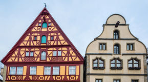Rothenburg ob der Tauber, Germany - Medieval Buildings Royalty Free Stock Photos