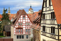Rothenburg ob der Tauber, Germany. Medieval old preserved town of Rothenburg ob der Tauber, Germany stock photography