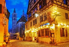 Rothenburg ob der Tauber, Germany. Rothenburg ob der Tauber by Nuremberg, Germany. Well preserved medieval german town, UNESCO world culture heritage site, on of royalty free stock photography