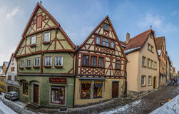 Rothenburg ob der Tauber, Germany - Timber Framed Building Royalty Free Stock Photo