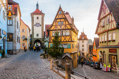 Rothenburg Ob Der Tauber, Germany. Rothenburg Ob Der Tauber is a well preserved medieval german town, and a UNESCO heritage site which attracts over 2 million royalty free stock image