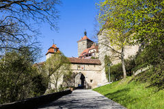 Rothenburg ob der Tauber, Kobolzell gate, Bavaria Royalty Free Stock Images