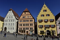 Rothenburg ob der Tauber, Market Place, Germany Royalty Free Stock Photography