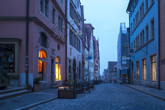 Rothenburg ob der Tauber in the morning Royalty Free Stock Photo