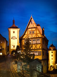 Rothenburg ob der Tauber by night Royalty Free Stock Photo