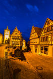 Rothenburg ob der Tauber Night Royalty Free Stock Photography