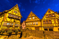 Rothenburg ob der Tauber Night Stock Images