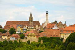 Rothenburg ob der Tauber, overview 5 Stock Photography