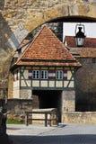 Rothenburg-ob-der-Tauber, Rodertor tower gates Royalty Free Stock Photo