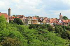 Rothenburg ob der Tauber scenery Royalty Free Stock Photos