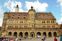 Rothenburg ob der Tauber, town hall Stock Photos