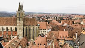 Rothenburg ob der Tauber vanaf de bovenkant stock afbeelding