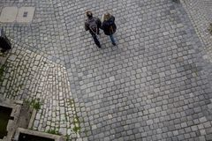 ROTHENBURG OB DERA TAUBER, BAVARIA/GERMANY - Wrzesień 19, 2017: fotografia royalty free