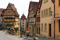 Rothenburg ob dera Tauber, Bavaria, Niemcy Obrazy Royalty Free
