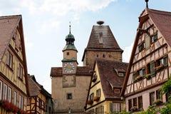 Rothenburg ob dera Tauber, Bavaria, Niemcy Fotografia Stock