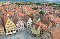 Rothenburg obder Tauber, överblick 11 Arkivfoton