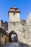 Rothenburg obder Tauber, Kobolzell port, Bayern Royaltyfria Bilder