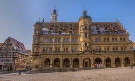 Rothenburg obder Tauber, Tyskland - stadshus Royaltyfria Bilder