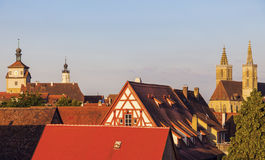 Rothenburg panorama with St. James's Church Stock Image