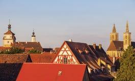 Rothenburg panorama with St. James's Church. Rothenburg, Bavaria, Germany Stock Image