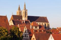 Rothenburg panorama with St. James's Church. Rothenburg, Bavaria, Germany Royalty Free Stock Photos