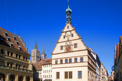 Rothenburg Rathaus Stockfotos