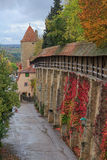 Rothenburg on Tauber castle wall and tower Royalty Free Stock Images
