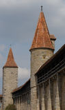 Rothenburg Walls. The walls and towers in the old town of Rothenburg in the Bavarian part of Germany can still be found today. Rothenburg is one of the most Stock Images