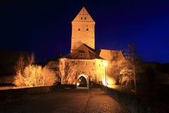 Rothenburgerpoort in Dinkesbuhl Royalty-vrije Stock Foto's
