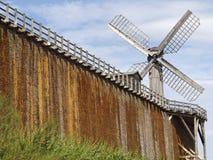 Rothenfelde difettoso, salt-works con il mulino a vento, Germania Fotografia Stock Libera da Diritti