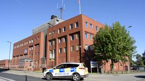 Rotherham Central, South Yorkshire Police Station, Main Street, Rotherham, South Yorkshire, England. 5th September 2019. Rotherham Central, South Yorkshire stock footage