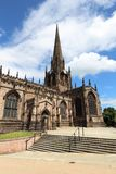 Rotherham Minster church. Rotherham, town in South Yorkshire, UK. Rotherham Minster (All Saints Church), Gothic architecture stock photos