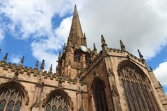 Rotherham Minster, UK. Rotherham, town in South Yorkshire, England. Rotherham Minster (All Saints Church), Gothic architecture Royalty Free Stock Photos