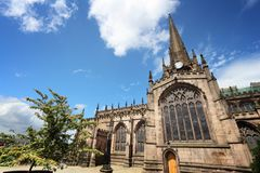 Rotherham Minster UK. Rotherham, town in South Yorkshire, England. Rotherham Minster (All Saints Church), Gothic architecture Stock Photo