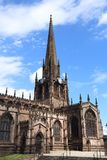 Rotherham. Town in South Yorkshire, England.  Minster All Saints Church, Gothic architecture royalty free stock photos