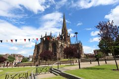 Rotherham. UK.  Minster All Saints Church, Gothic architecture Royalty Free Stock Image