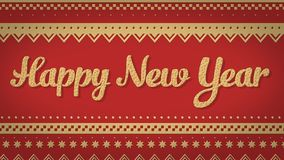 Rothintergrund des glücklichen neuen Jahres Stockbilder