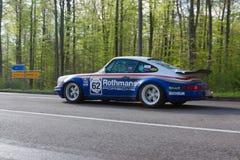 1981年Rothmans在ADAC符腾堡历史的Rallye的保时捷911 2013年 免版税库存照片