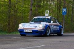 1981 Rothmans Porsche 911 bij ADAC Wurttemberg Historische Rallye 2013 Stock Afbeeldingen