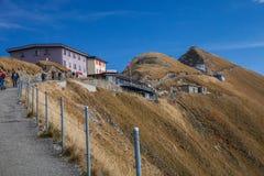 Rothorn Kulm山旅馆,瑞士 库存图片
