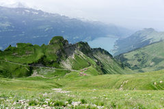 Rothorn Mountains and Lake Brienz - Switzerland Stock Photography