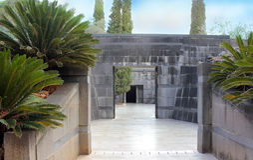 Rothschild rodzinny grobowiec w Ramat Hanadiv, Izrael Obraz Royalty Free