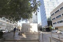 Rothshild boulevard i Tel Aviv, Israel Fotografering för Bildbyråer