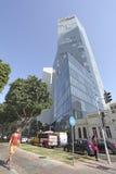 Rothshild boulevard i Tel Aviv, Israel Royaltyfri Foto