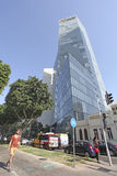 Rothshild boulevard in Tel Aviv, Israel Royalty Free Stock Photo