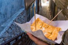 Roti乳酪用变甜的浓缩牛奶 免版税库存图片