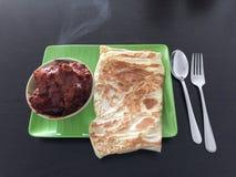 Roti用咖喱汁 免版税库存图片
